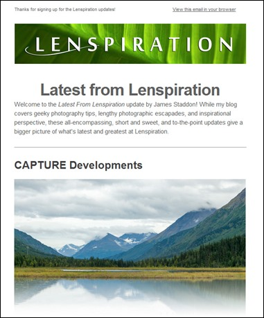Latest from Lenspiration Updates