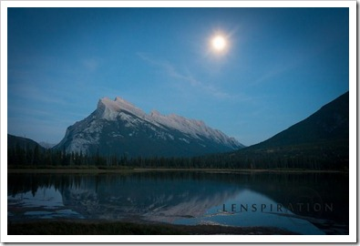 Moon Over Mt. Rundle