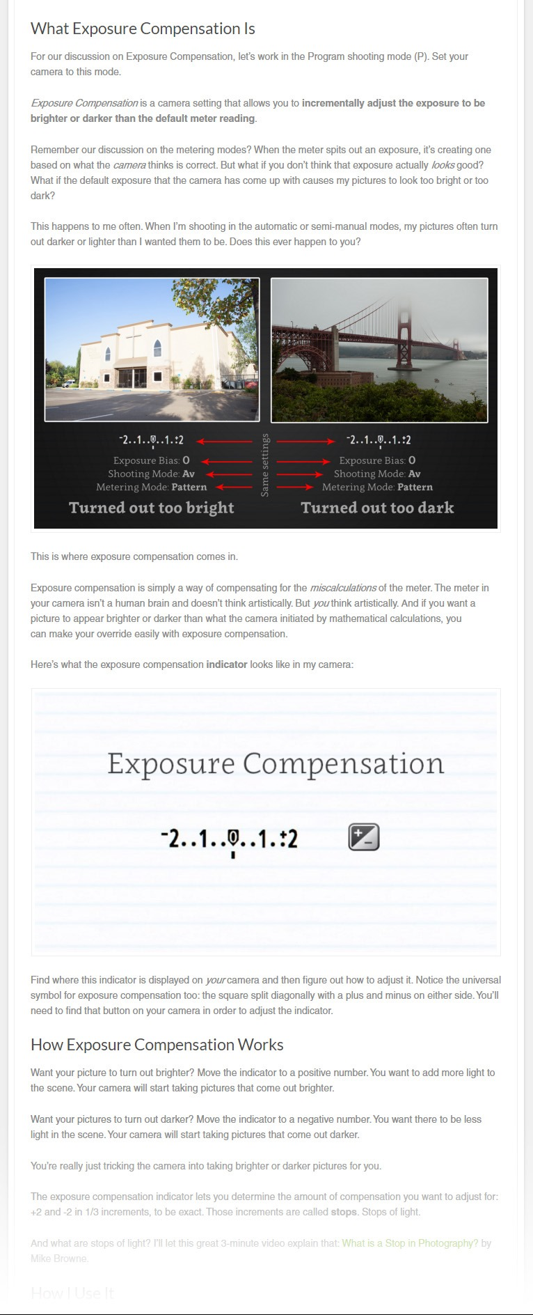 Do You Know How to Use Exposure Compensation?