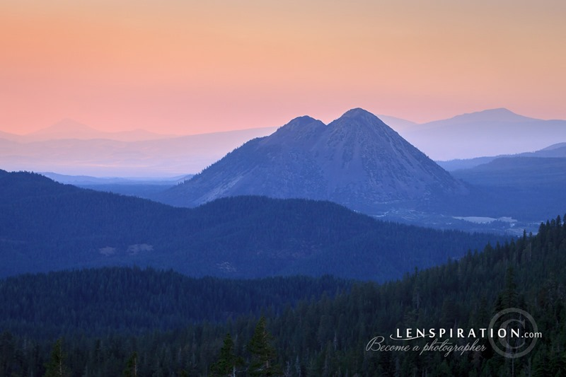 Black Butte At Dusk