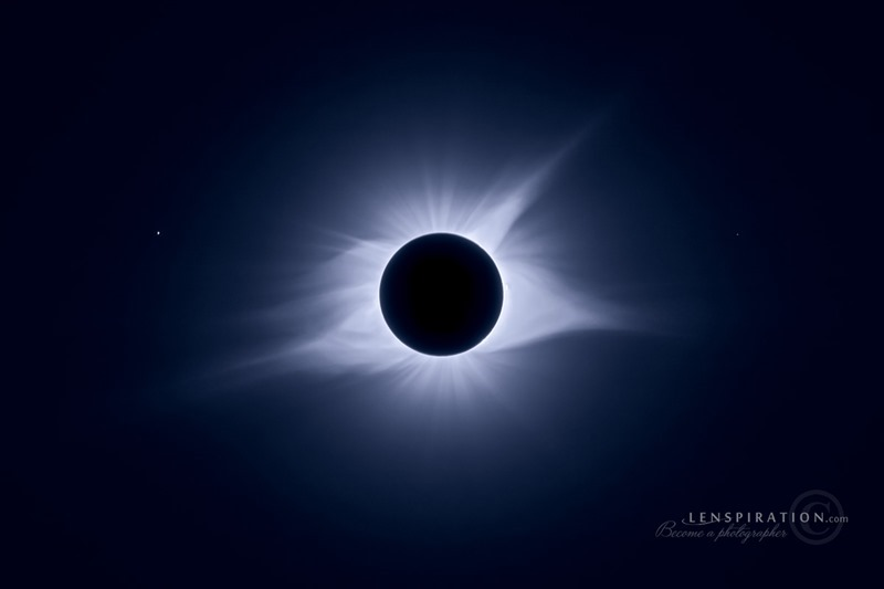 2017 Total Solar Eclipse Blue Glow