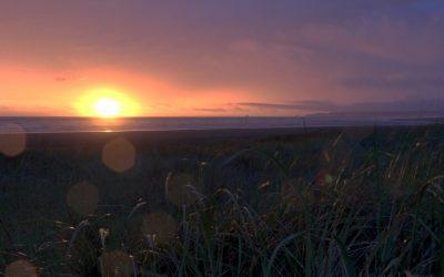 Sunset on Pacific Coast