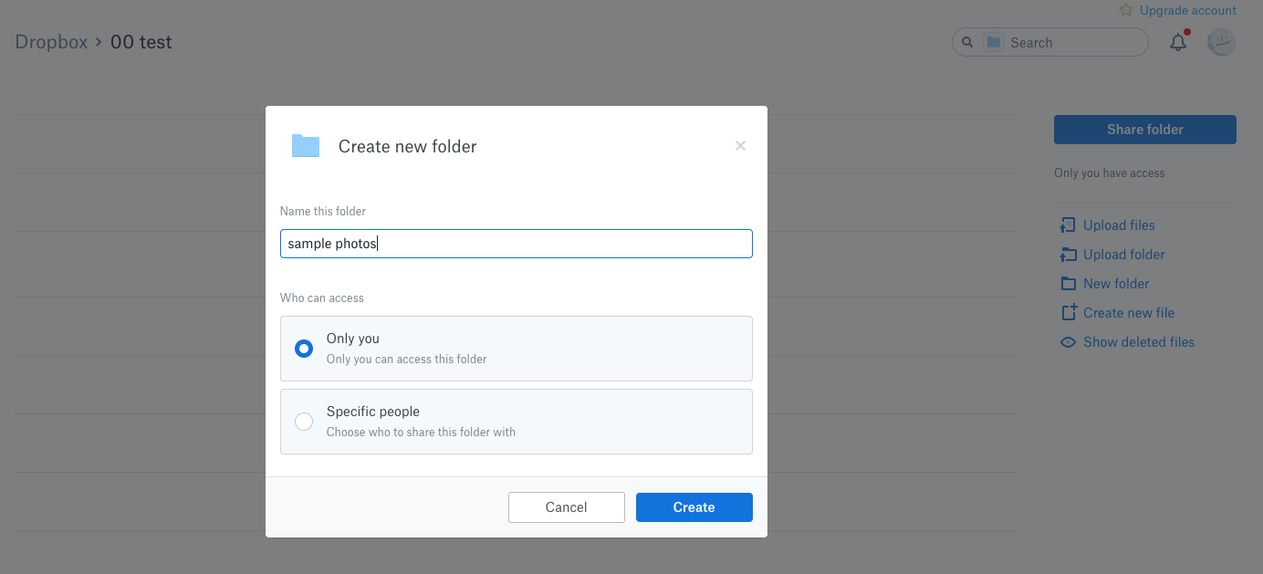 Create another Folder