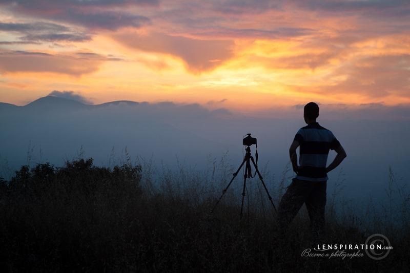 Photographer Awaits the Sunrise