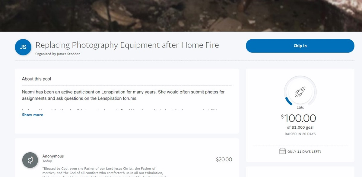 Replacing Photography Equipment